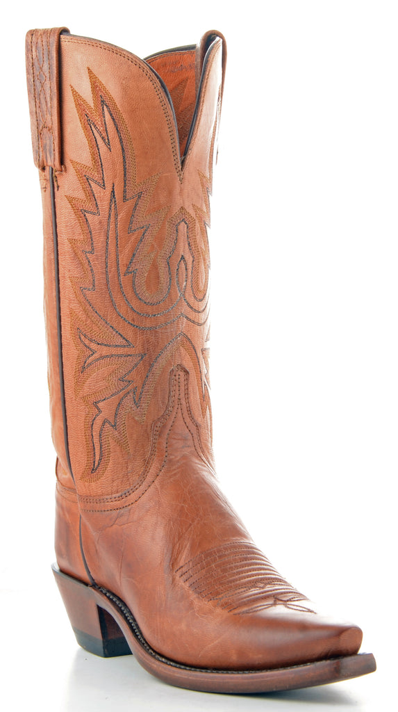 Women's Lucchese Mad Dog Goat Boots Tan #N4540-5/4 view 1