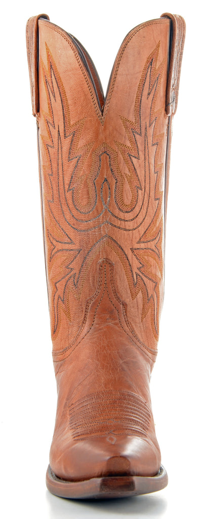 Women's Lucchese Mad Dog Goat Boots Tan #N4540-5/4 view 2