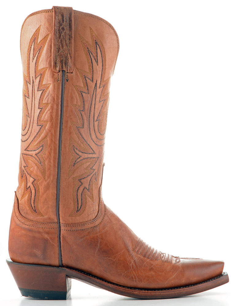 Women's Lucchese Mad Dog Goat Boots Tan #N4540-5/4 view 3