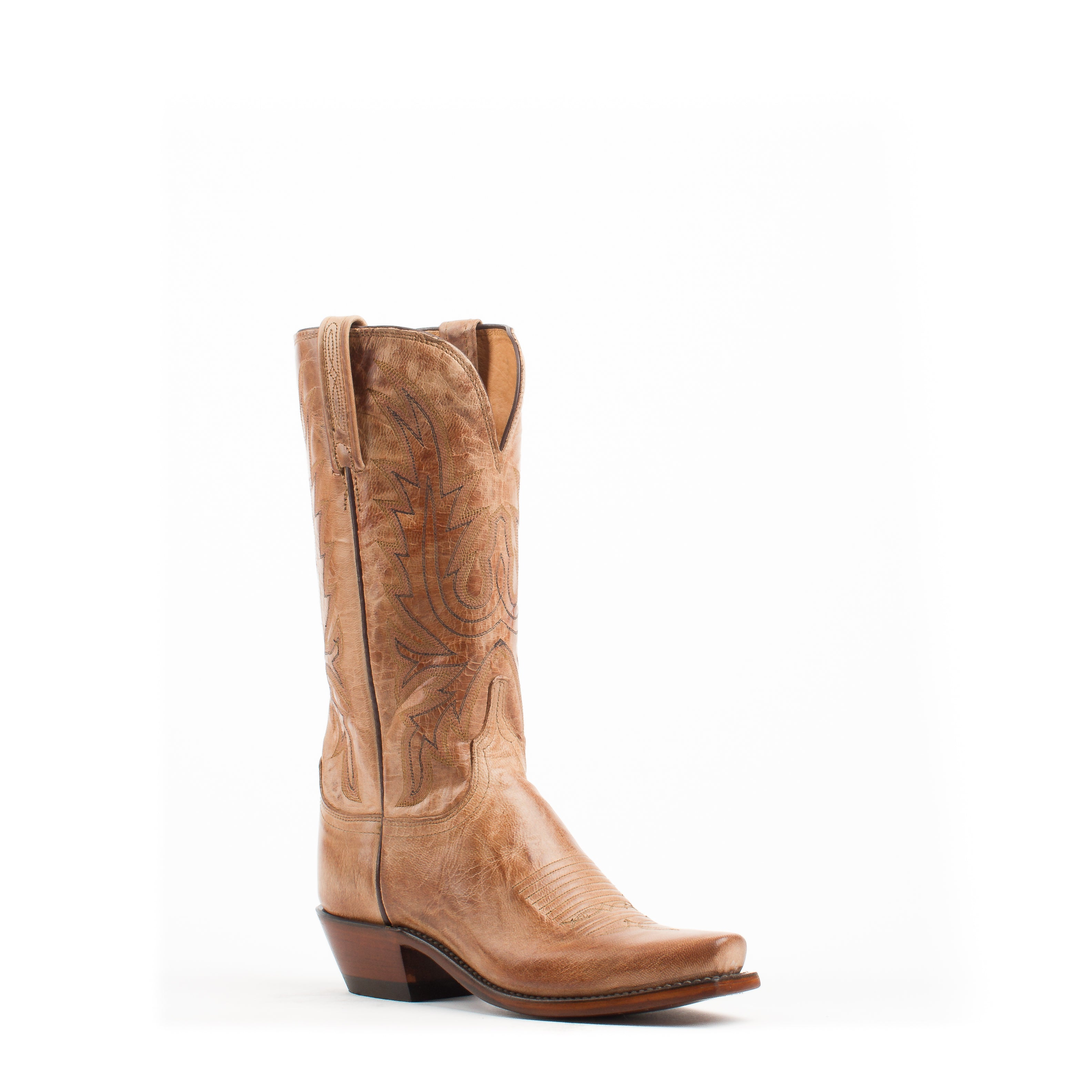 3088410cf5d Women s Lucchese Tan Burnished Mad Dog Goat Boots  N4540-7 4 ...