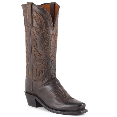 Women's Lucchese Mad Dog Goat Boots Chocolate #N4554-7/4