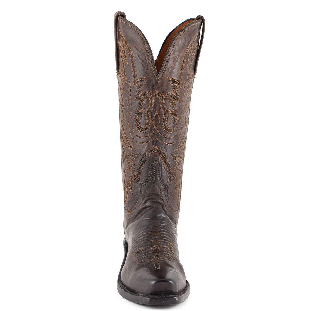 Women's Lucchese Mad Dog Goat Boots Chocolate #N4554-7/4 view 3