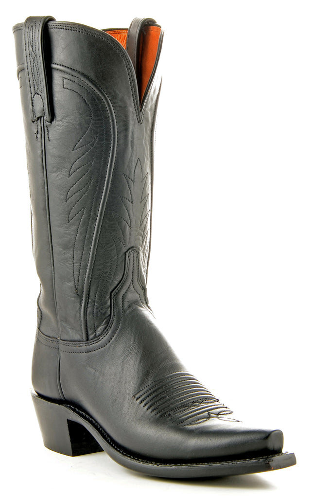 Women's Lucchese Ranch Hand Boots Black Burn #N4605 view 1