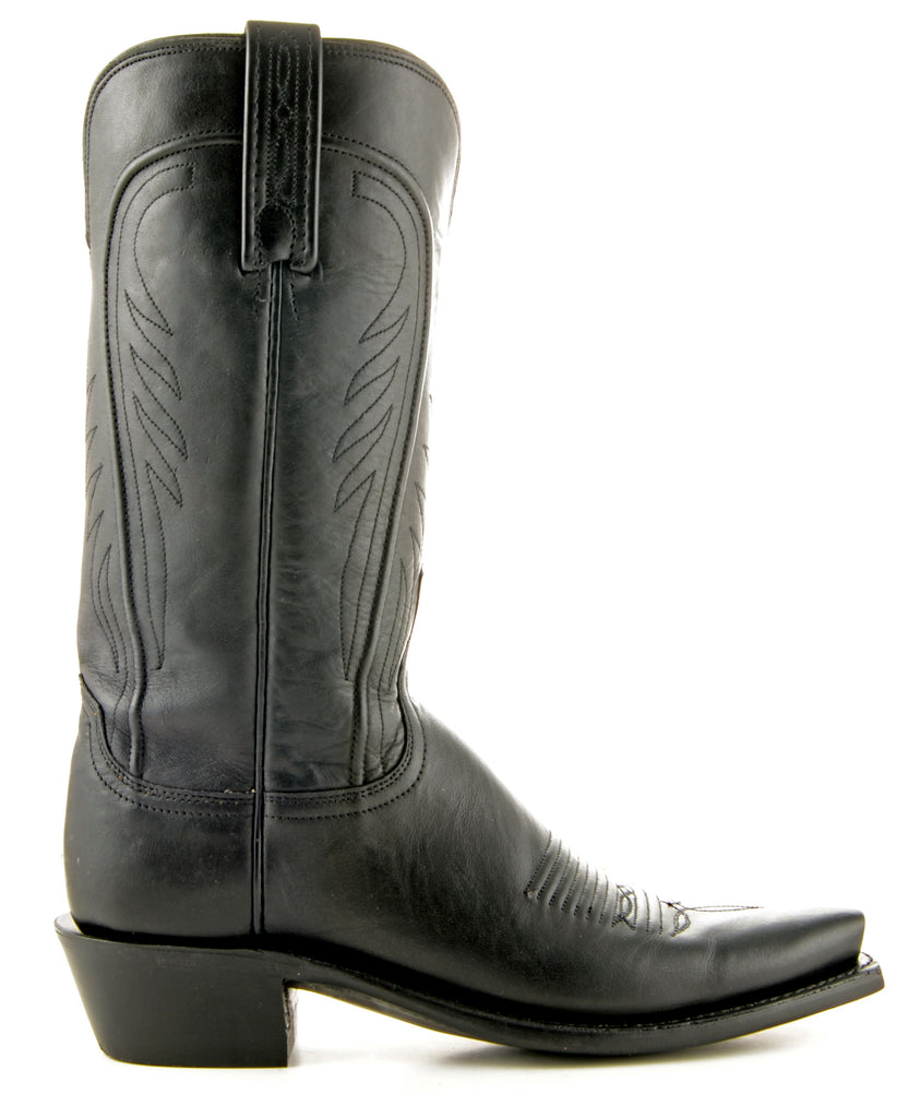 Women's Lucchese Ranch Hand Boots Black Burn #N4605 view 4