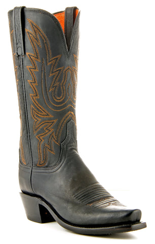 Women's Lucchese Mad Dog Goat Boots Black Burn #N8259-7/4