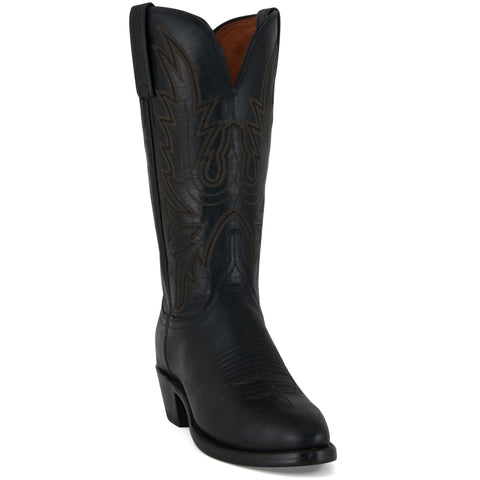 Women's Lucchese Boots Black Burnished Mad Dog Goat #N8259-R/4