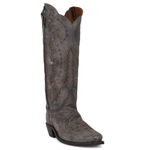 Women's Lucchese Boots Pearl Bone Mad Dog Goat #N9756-7/4
