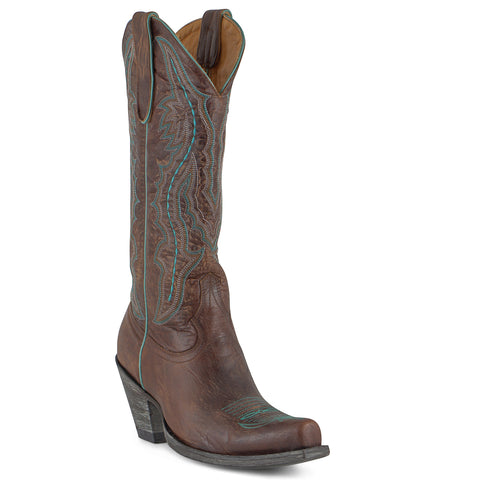Women's Old Gringo Rio Boots Brass/Turq #L163-69