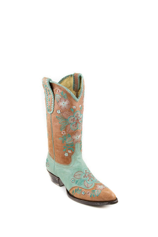Women's Allens Brand Jacy Boots Tan/Turquoise #PR ALL-JACY12STSP-A