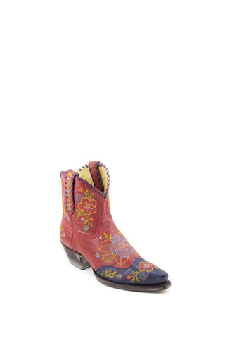 Women's Allens Brand Jacy Boots Blue/Red #PR ALL-JACY7STP4-A