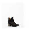Women's Corral Ankle Embroidery Boots Black #Q0098