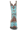 Women's Corral Dahlia Boots Brown and Turquoise #R1193