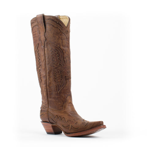 Women's Corral Vintage Tall Eagle Boots Brown #R2295