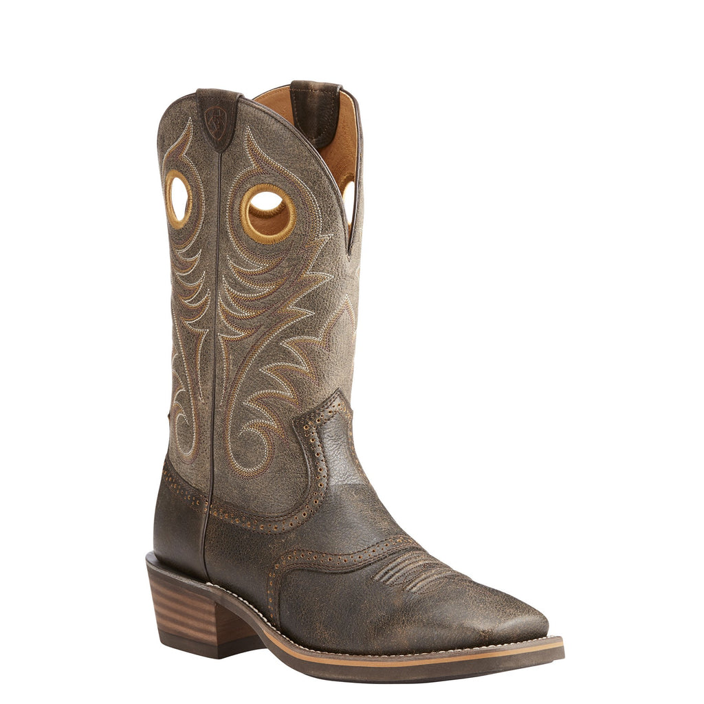 Men's Ariat Heritage Roughstock Boot Brown #10023176 view 1
