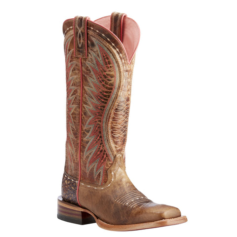 Women's Ariat Vaquera Western Boot Dusted Wheat Brown #10023158