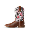 Kid's Ariat Gringa Boots Busted Brown/Leopard #10027278