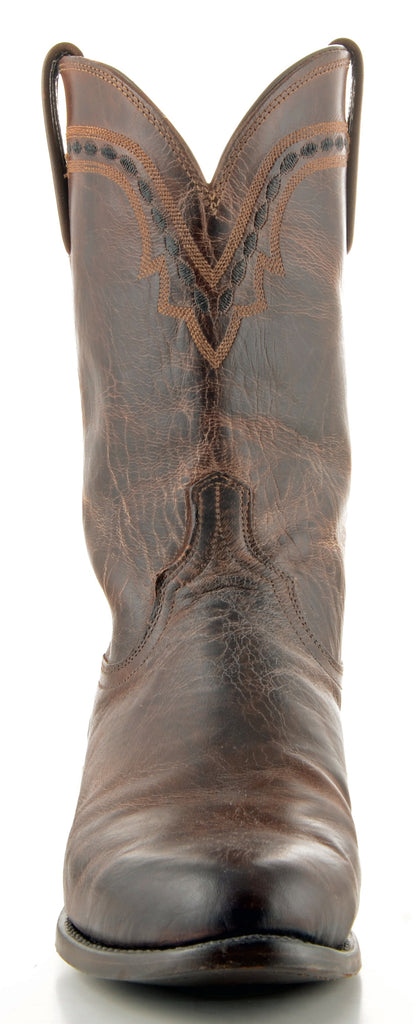 Men's Lucchese Mad Dog Goat Roper Boots Chocolate #T0122 view 2