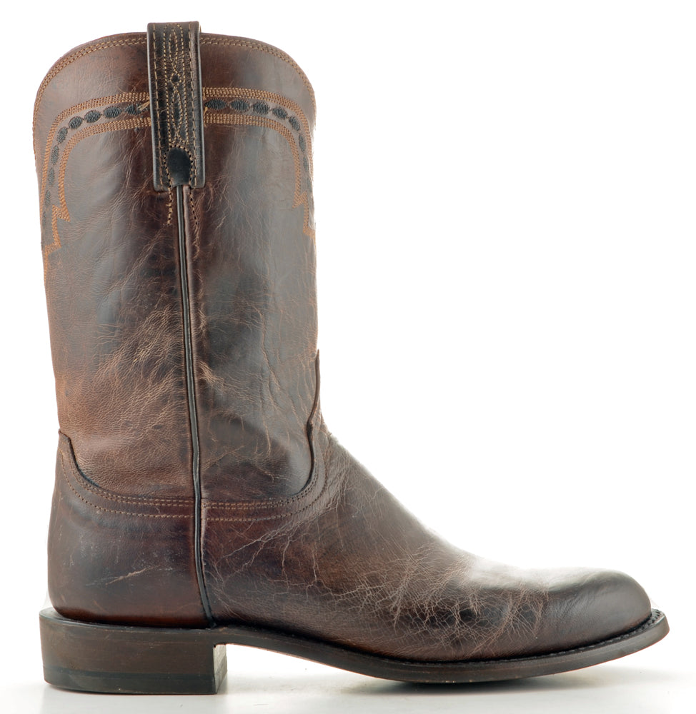 Men's Lucchese Mad Dog Goat Roper Boots Chocolate #T0122 view 3