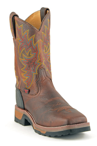 Men's Tony Lama Badger Boots Composite Toe Bark #TW1061