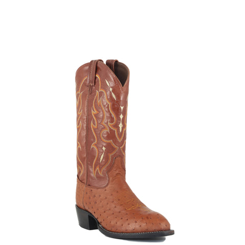 Men's Tony Lama Peanut Brittle Smooth Ostrich Boots #CT873