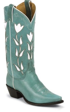 Women's Justin Vintage Goat Boots Turquoise #VJL450