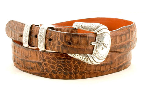 Adults Lucchese Horn Belly Caiman Tan #W01410