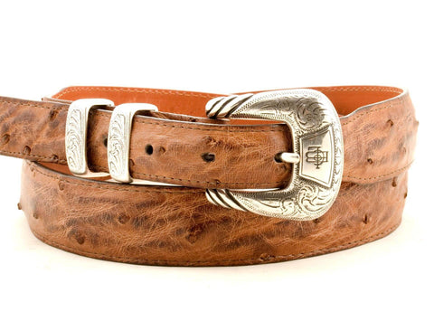 Lucchese Taper Barnwood Ostrich Belt #W01672
