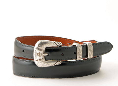 Lucchese Taper Black Goat Belt #W03996