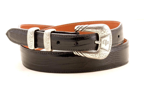 Lucchese Taper Black Lizard Belt #W0783