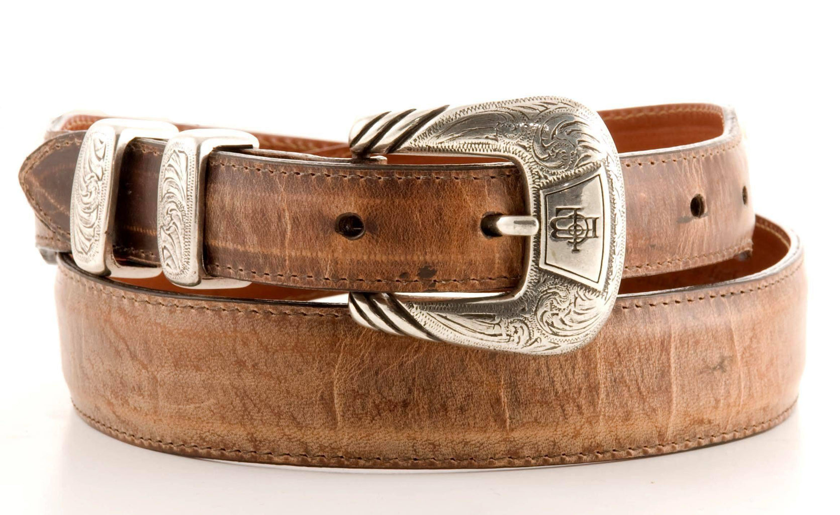 Lucchese Taper Tan Mad Dog Goat Belt #W0787 view 1