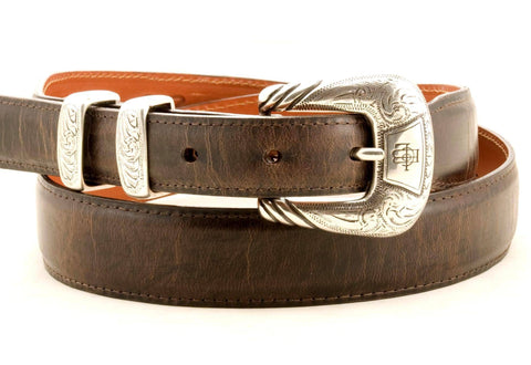 Lucchese Taper Chocolate Mad Dog Goat Belt #W0788