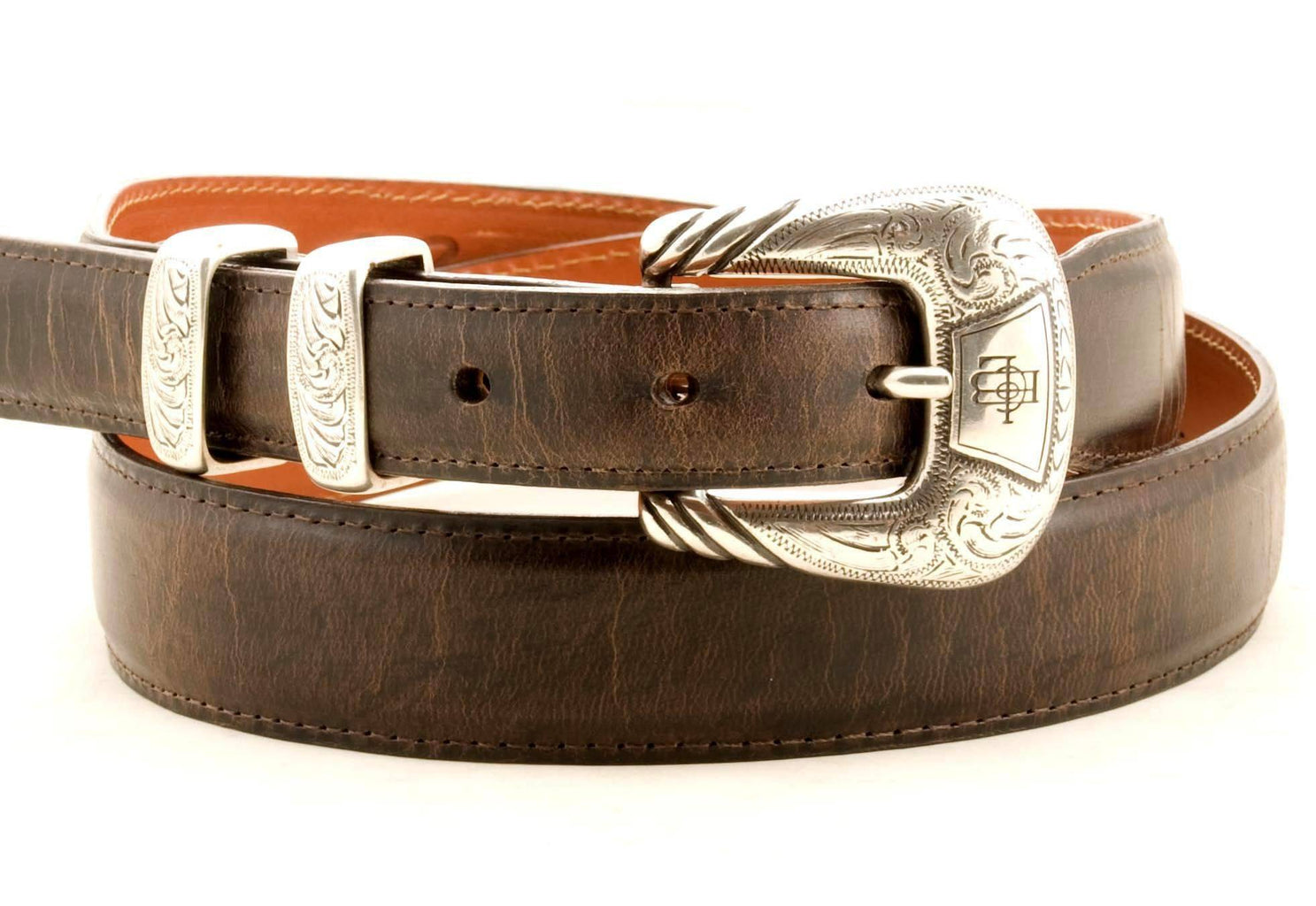 Lucchese Taper Chocolate Mad Dog Goat Belt #W0788 view 1