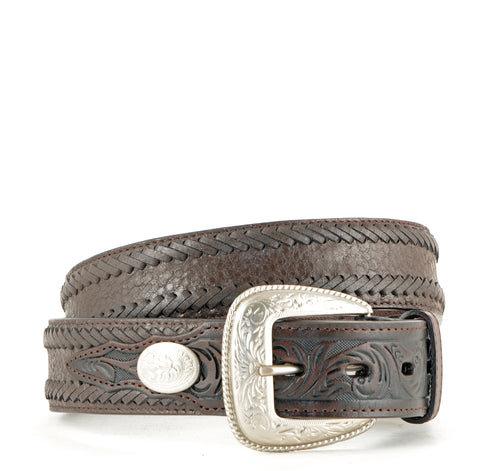 3-D Straight Tumble Brown Belt #WC1042
