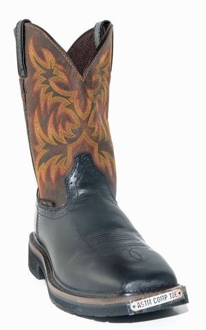 Men's Justin Oiled Composite Toe Black Boots #WK4818
