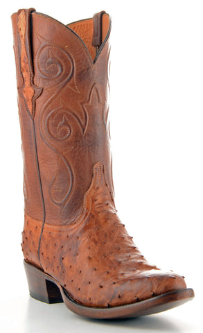 Men's Lucchese Classics Pin Ostrich Boots Barnwood #GC9356-6/3