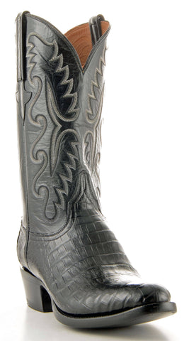 Men's Lucchese Classics Ultra Caiman Belly Black #E2147-6/3