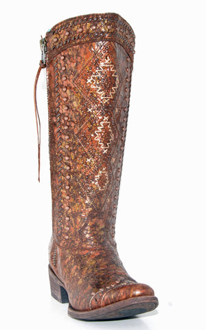 Women's Corral Copper/Beige Boots #C2904