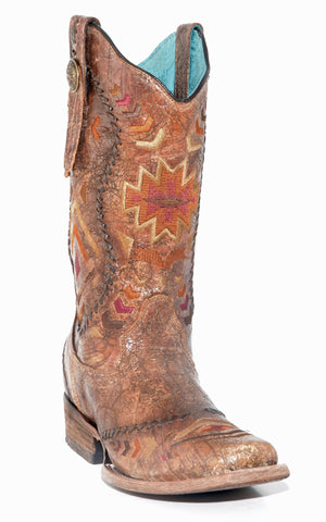 Women's Corral Cognac/Multi Color Pattern #C2915