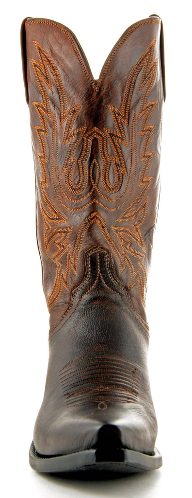 Men's Lucchese Mad Dog Goat Boots Chocolate Burn #N1556-5/4 view 3
