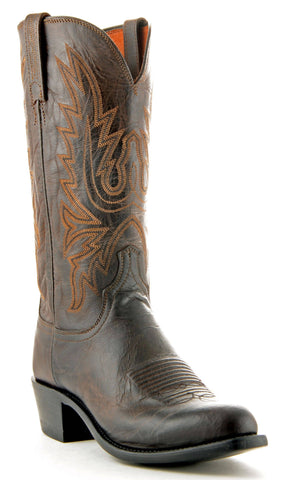 Men's Lucchese Mad Dog Goat Boots Chocolate #N1556-R/4