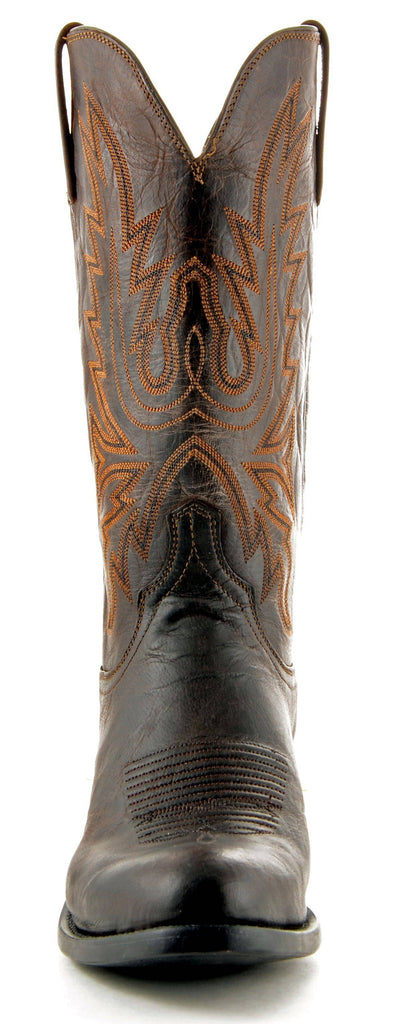 Men's Lucchese Mad Dog Goat Boots Chocolate #N1556-R/4 view 2