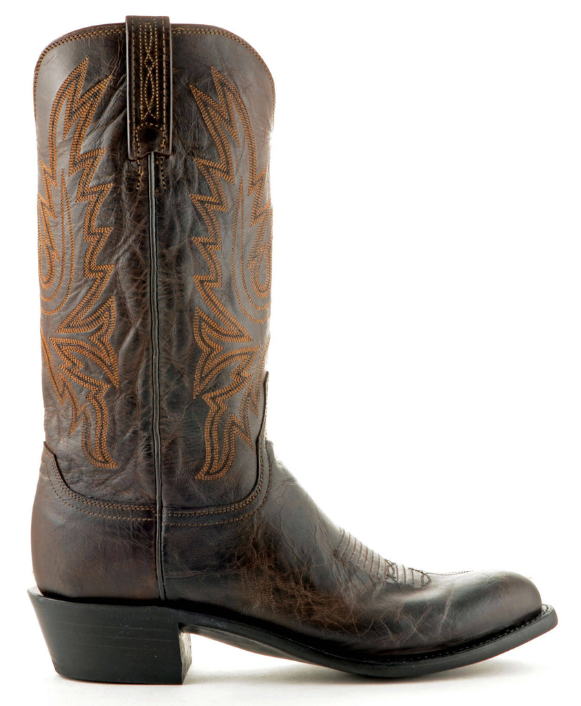 Men's Lucchese Mad Dog Goat Boots Chocolate #N1556-R/4 view 3