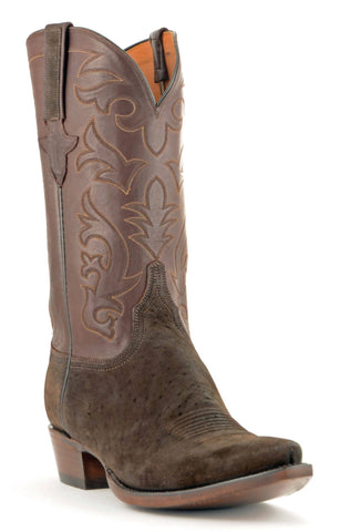 Men's Lucchese Classics Sueded Elephant Boots Chocolate #GB8960 5/3