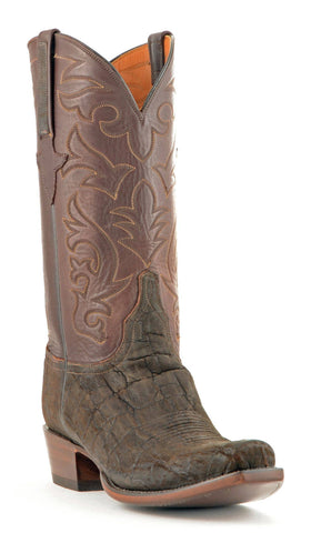Men's Lucchese Classics Sueded Elephant Boots Chocolate #GB8960-7/3