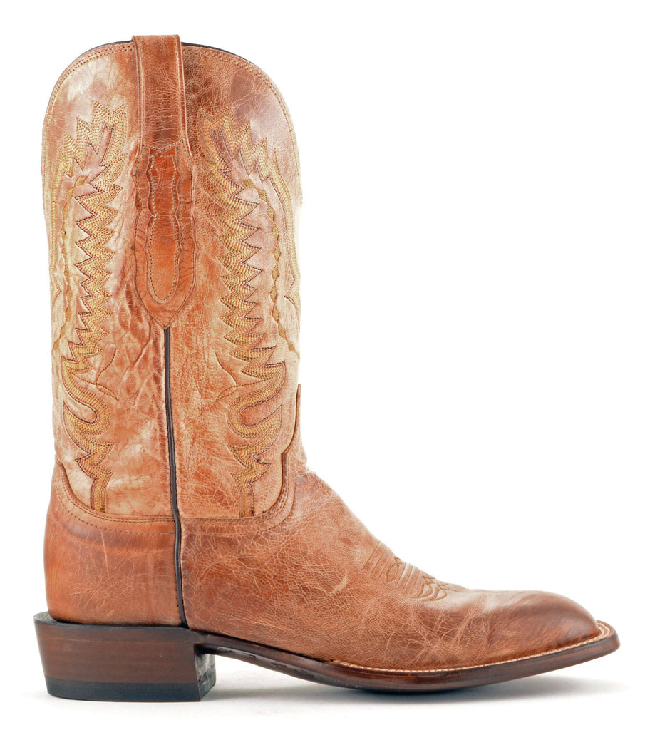 Men's Lucchese Mad Dog Goat Boots Tan #CL7793 view 4