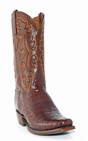 Men's Lucchese Classics Caiman Belly Boots Sienna #E2144 7/3