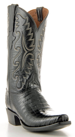 Men's Lucchese Classics Ultra Caiman Belly Black #E2147-7/3