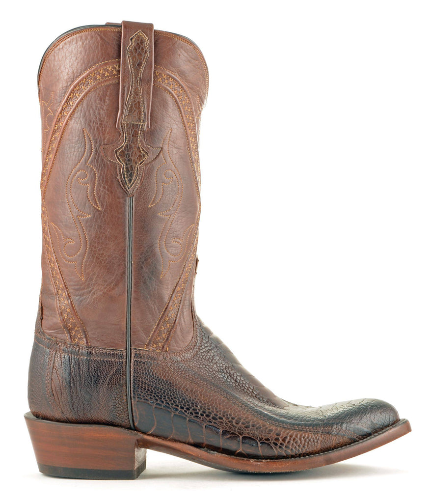 Men's Lucchese Classics Ostrich Leg Boots Chocolate #GB9207-6/3 view 4
