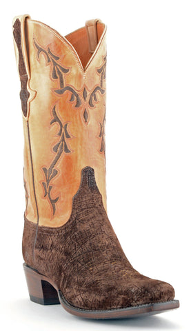 Men's Lucchese Classics Hippo Boots Chocolate #GB9804-7/3