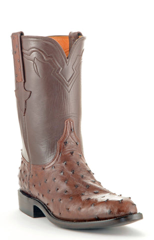 Men's Lucchese Classics Ostrich Roper Sienna Roper Boots #GC9115